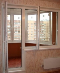 Окна совмещенные с дверью